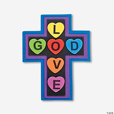 �god is love� cross magnet craft kit oriental trading