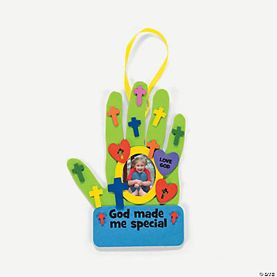 """God Made Me Special"" Handprint Picture Frame Craft Kit"