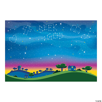 God's Galaxy VBS Constellation Backdrop Banner