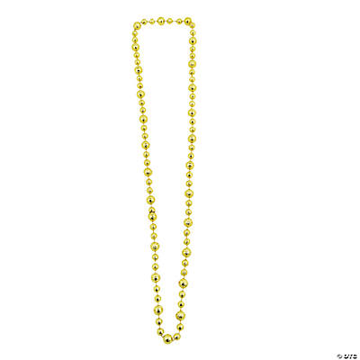Gold Basketball Beaded Necklaces