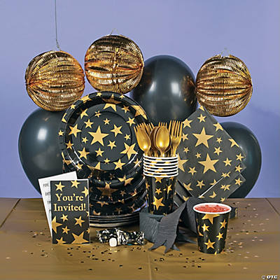 Gold Foil Star Deluxe Party Pack