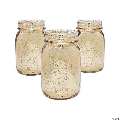 Gold Mercury Mason Jars - Oriental Trading