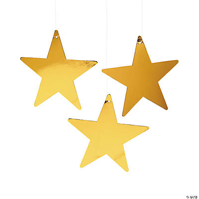 Gold Metallic Stars - 9""