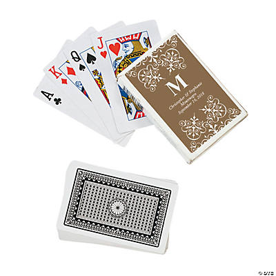 Gold Monogram Wedding Personalized Playing Cards