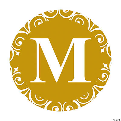Gold Personalized Monogram Wedding Favor Stickers