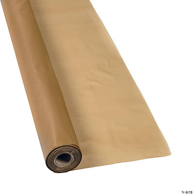Gold Plastic Tablecloth Roll