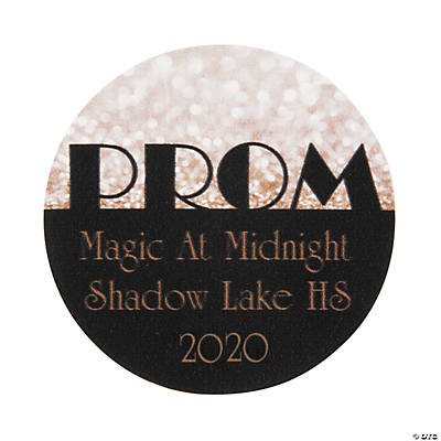 Gold Prom Personalized Stickers