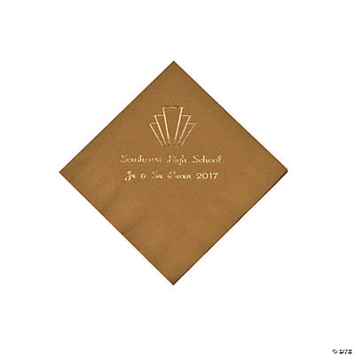 Gold Roaring '20s Personalized Beverage Napkins
