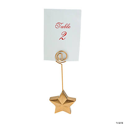 Gold Star Place Card Holders