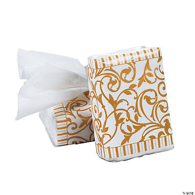Gold Wedding Facial Tissue Packs