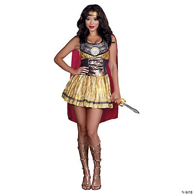 Golden Gladiator Adult Women's Costume