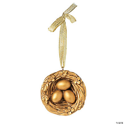 Golden Nest Christmas Ornaments on Card