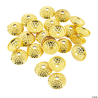 Goldtone Acorn Bead Caps