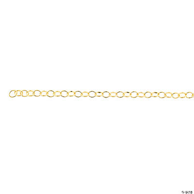 Goldtone Diamond Pattern Chain