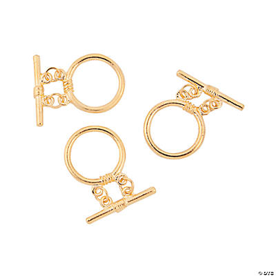 Goldtone Round Double Strand Toggle Clasps