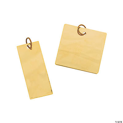 Goldtone Square & Rectangle Blanks