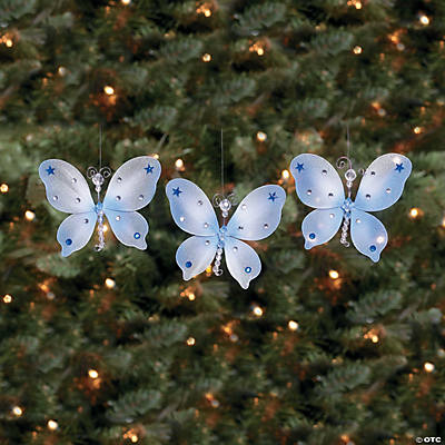 Gossamer Butterfly Christmas Ornaments