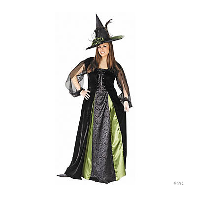 Goth Maiden Witch Plus Size Adult Women's Costume