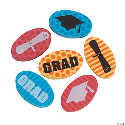 """Grad"" Mini Eraser Assortment"