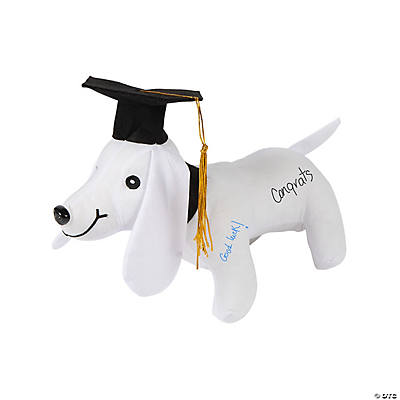 Graduation Autograph Stuffed Dog