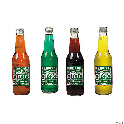 Graduation Drink Labels - Green