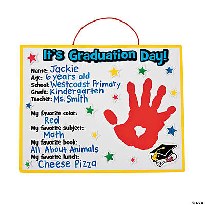 Graduation Handprint Craft Kit