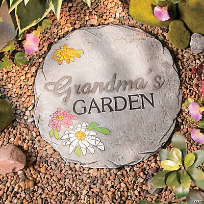 Grandma s garden stepping stone oriental trading for Decorative rocks for sale near me
