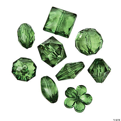 Green Bead Assortment - 12mm - 15mm
