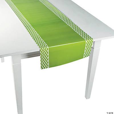 Green Chevron Table Runner