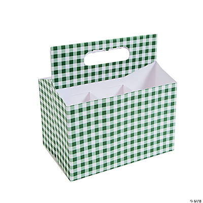 Green Gingham Tableware Caddy