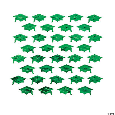 Green Graduation Hat Confetti