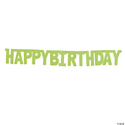 "Green ""Happy Birthday"" Jointed Banner"