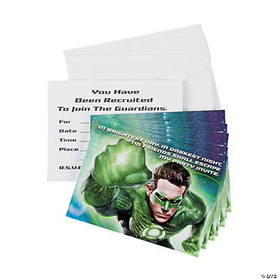 Green Lantern™ Invitations