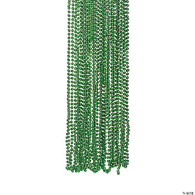 Green Metallic Bead Necklaces