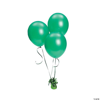 Green Metallic Latex Balloons