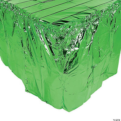 Green Metallic Table Skirt