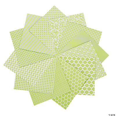 Green Monochromatic Paper Pack