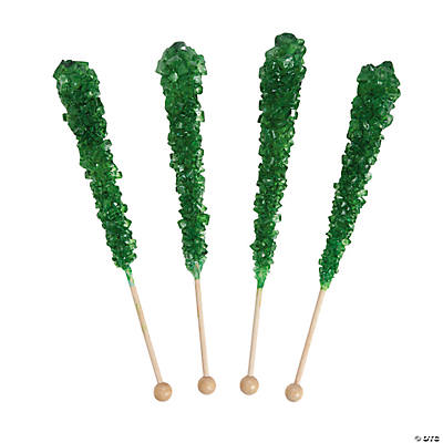 Green Rock Candy Pops
