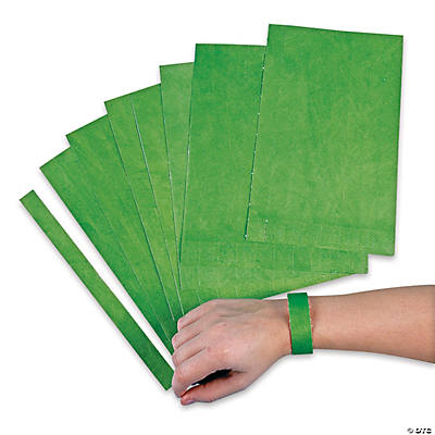 Green Self-Adhesive Wristbands