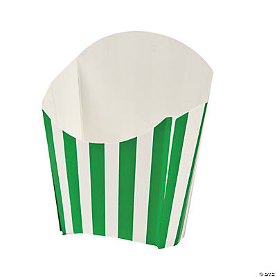 Green Striped Fry Containers
