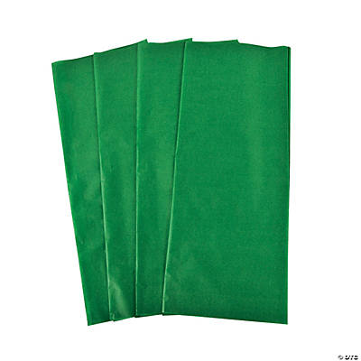 60 Green Tissue Paper Sheets