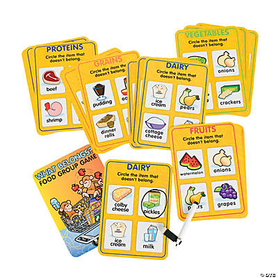 "Grocery Monkey's ""What Belongs?"" Food Group Card Set"