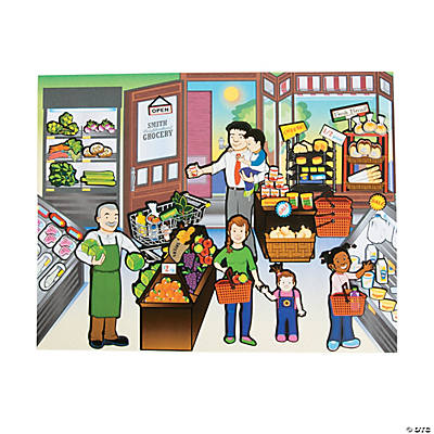 Grocery Store Sticker Scenes