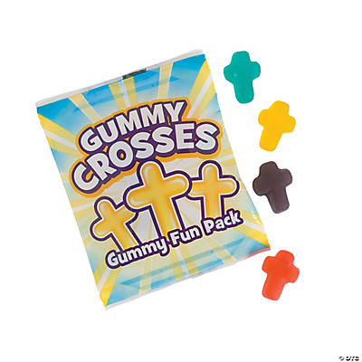 """Gummy Crosses"" Gummy Fun Packs"