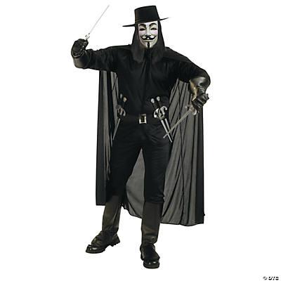 Fawkes V For Vendetta Halloween Costume for Men