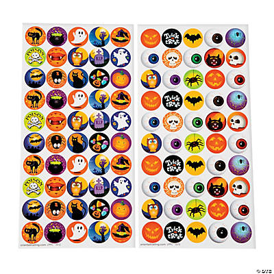 Halloween Bottlecap Stickers - 1""