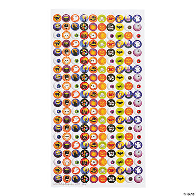 Halloween Bottlecap Stickers - 1/2""