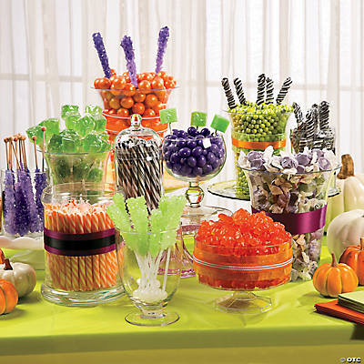 halloween brights candy buffet idea. Black Bedroom Furniture Sets. Home Design Ideas