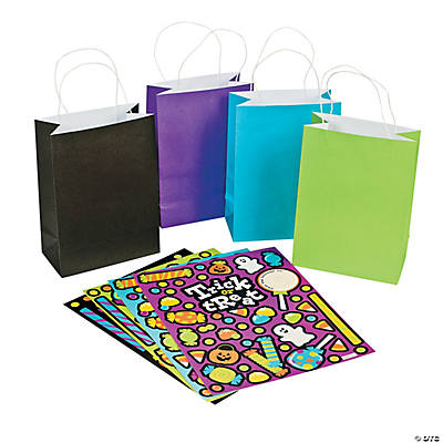 Halloween Candy Craft Bags with Stickers