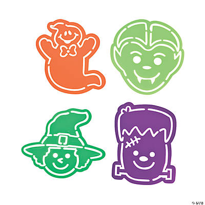 Halloween Die Cut Monster Stencils
